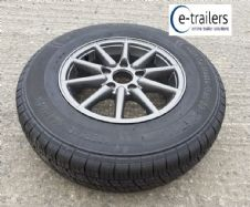 New 5.5Jx14 112 pcd 5 stud Caravan Trailer Alloy Wheel WITH 185x14 C tyre